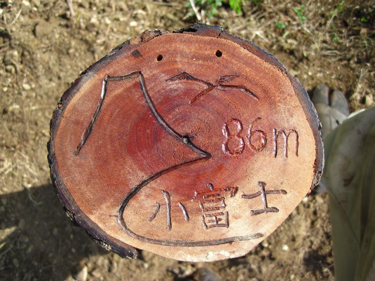 小富士登頂証明書 レリーフ
