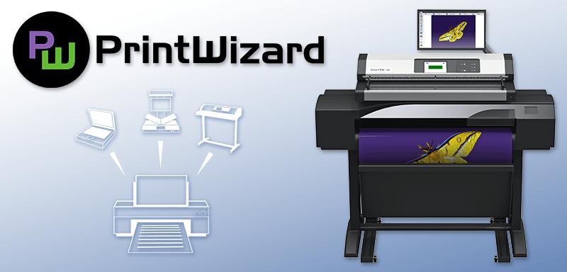 MFP Lösung für Grossformatdrucker in Verbindung mit einem Grossformatscanner.