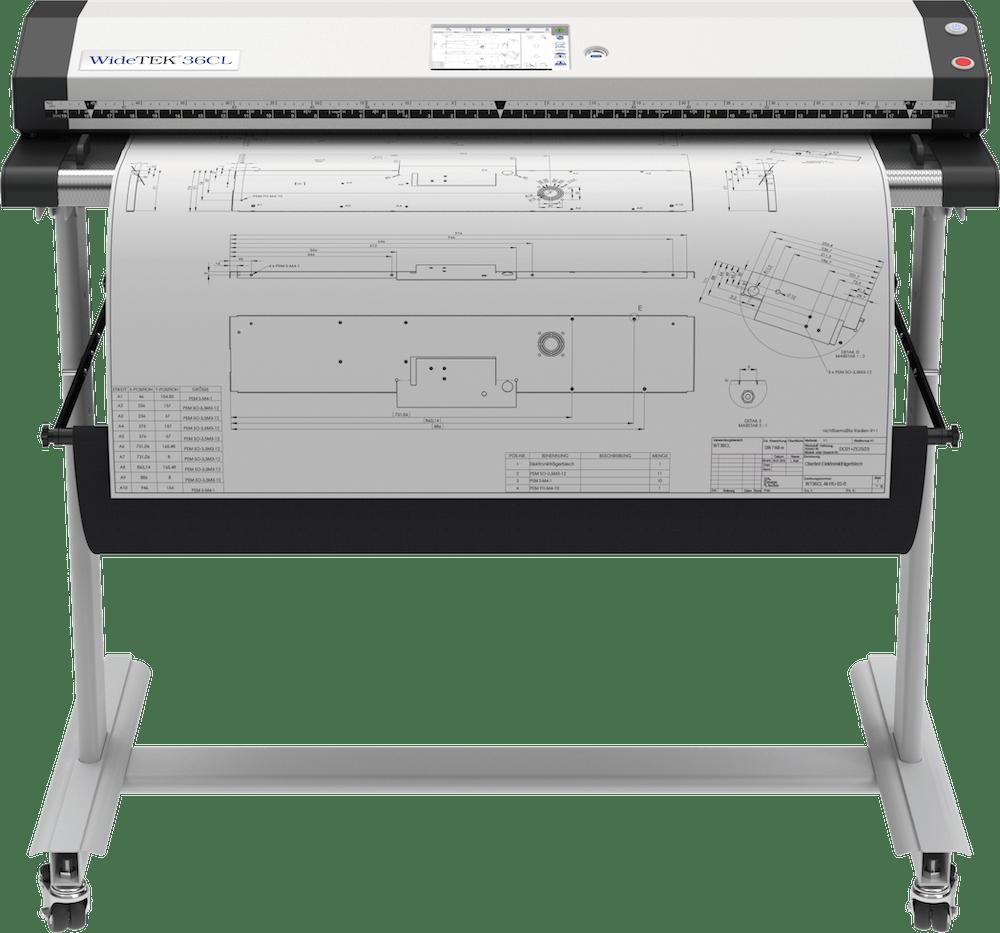 WideTEK 36CL Großformatscanner 36 Zoll mit Plan