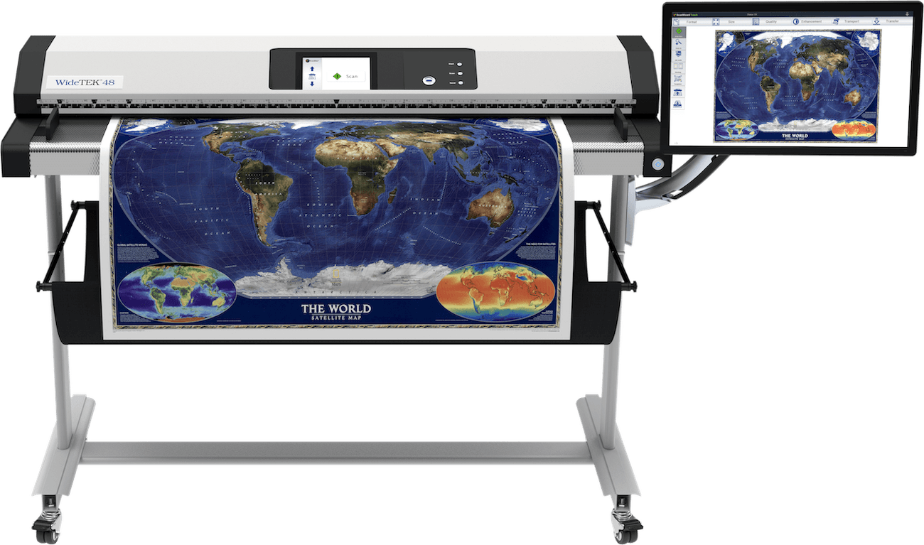 Widetek 48 Grossformatscanner 48 Zoll mit Poster und 21 Zoll Touchscreen