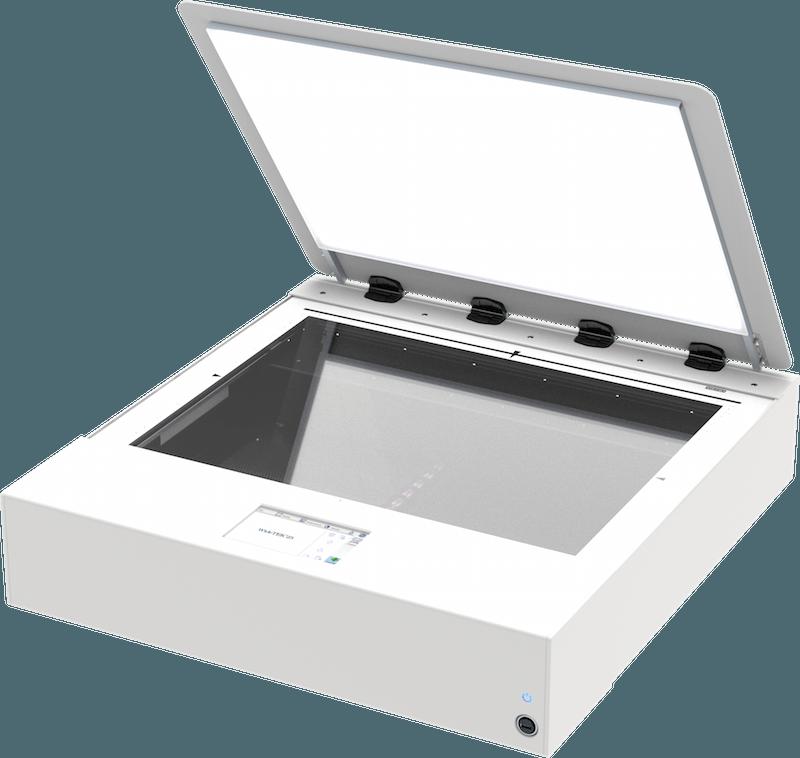Flachbettscanner A2 WideTEK 25 mit Backlight offen