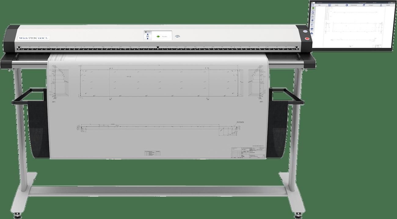 WideTEK 60CL 60 Zoll Grossformatscanner mit 21 Zoll Touchscreen und Plan