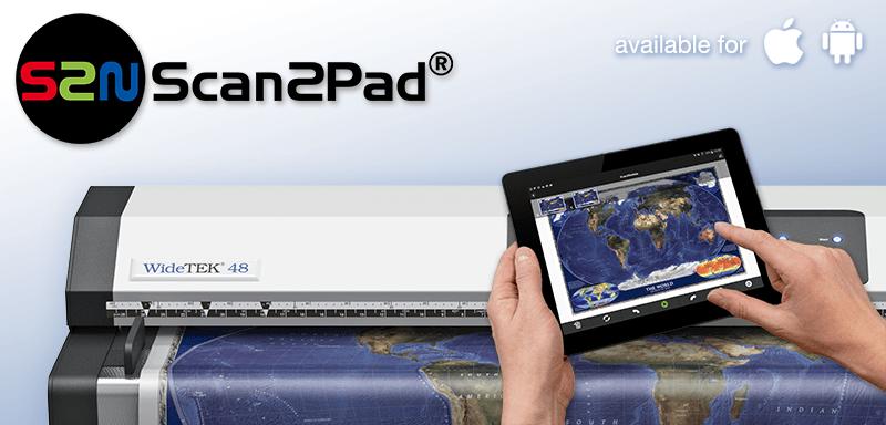 Scan2Pad ermöglicht das Scannen und Speichern Ihrer Scans auf Ihrem Smartphone oder Tablet.