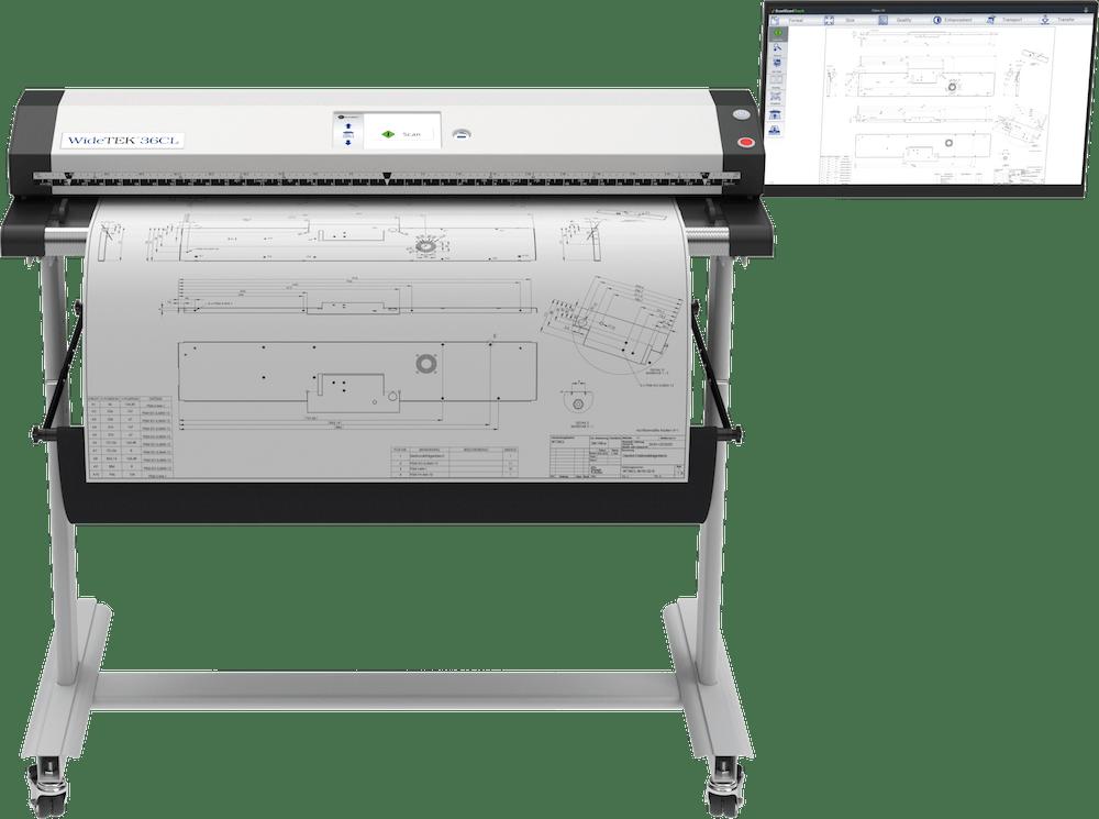 WideTEK 36CL Großformatscanner 36 Zoll mit Plan und 21 Zoll Touchscreen