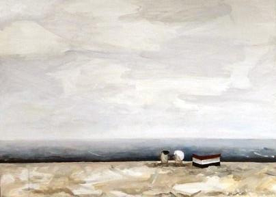 Kołobrzeg, 79 x 58 cm, Acryl auf Leinwand, 2012.