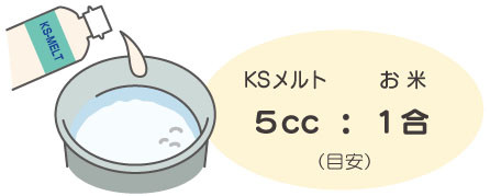 KSメルト:お米=5cc:1合