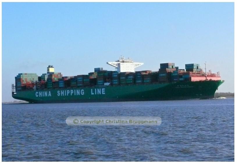 """""""CSCL IDIAN OCEAN"""" bei Kollmar 11.03.2015"""