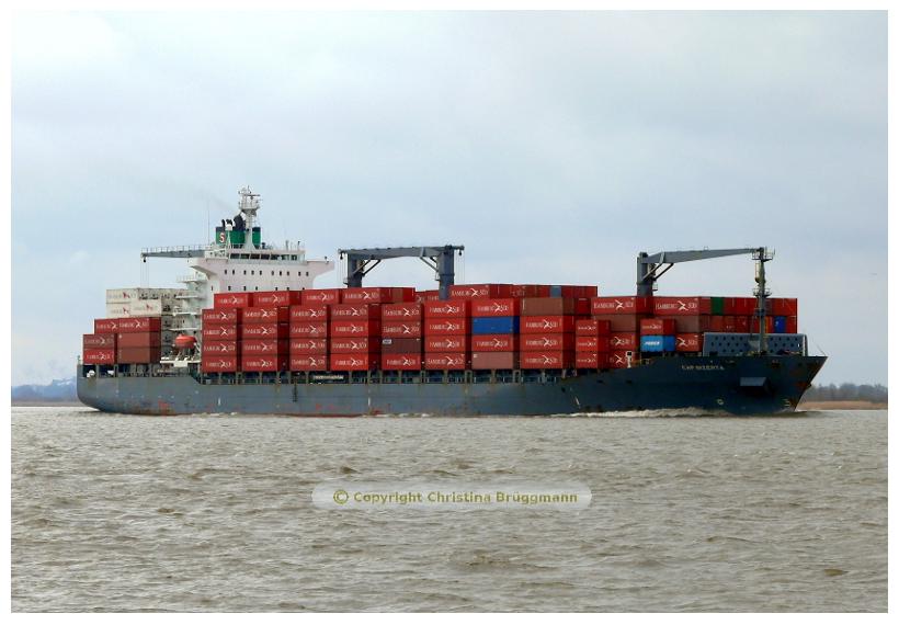 CAP BIZERTA auf der Elbe 27.03.2015
