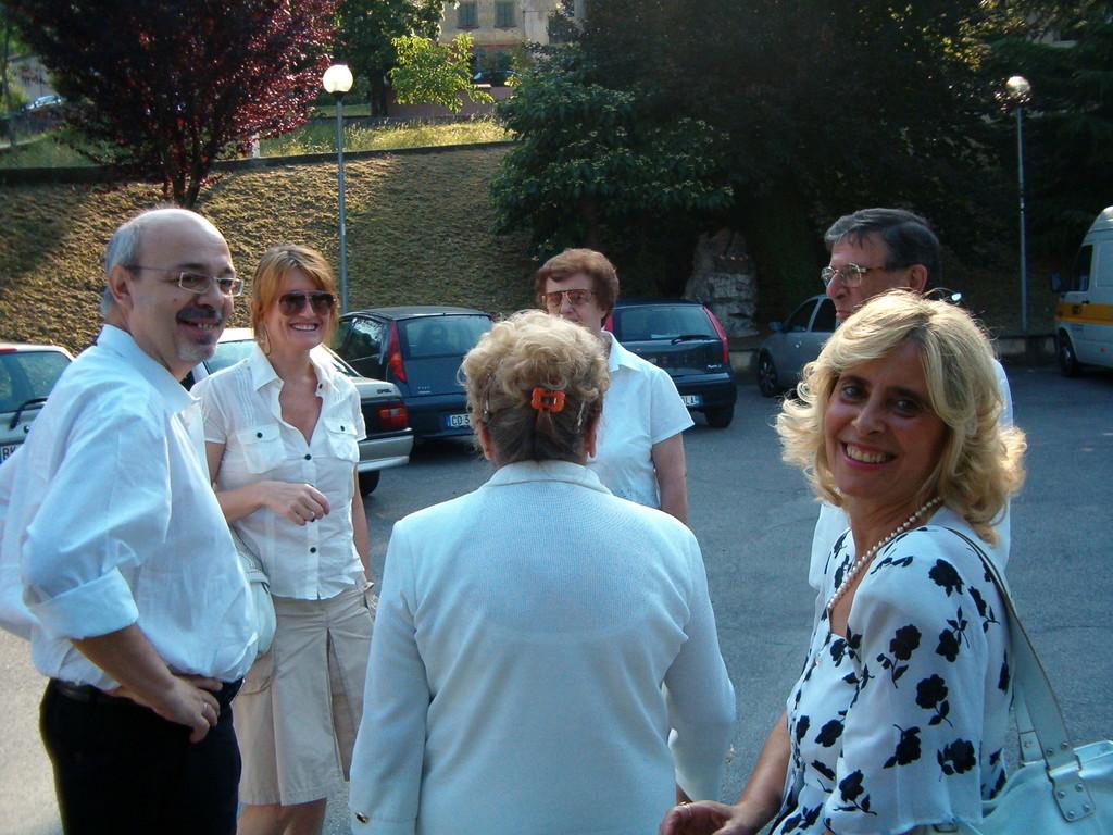 Antonella Todeschini (figlia di Marco) alla Mostra del libro in p.zza Todeschini a Valsecca