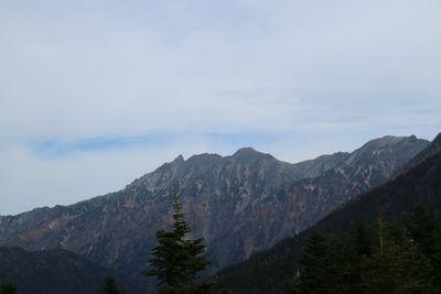 ロープウェイ頂上より槍ヶ岳を望む