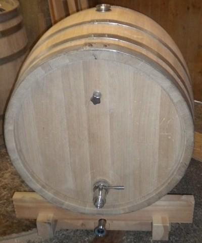holzfass 600 liter mit kugelhahn, kosthahn und klarablauf