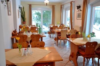 Frühstück- und Aufenthaltsraum Pension Waldeck