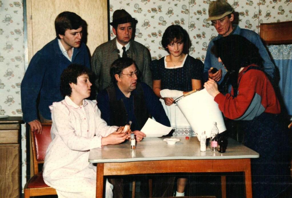 Stehend: Dirk Reineke, Kurt Bolte, Brigitte Rohlfs, Heinrich Gilster, Inga Adomat; Sitzend: Renate Müller, Reinhard Peters