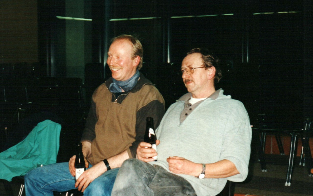 Bei den Proben: Andreas Schmidt, Hans-Georg Kunkel