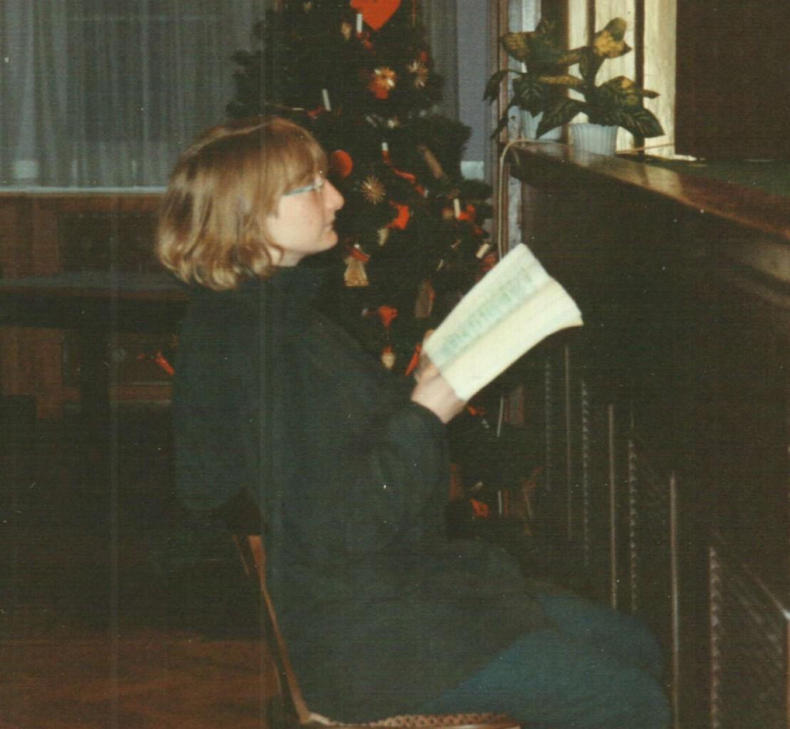 Bei den Proben: Birgit Engelke