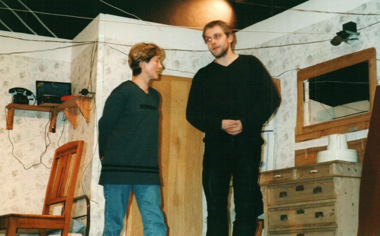Bei der Probe: Brigitte Krumdieck, Christoph Koloff