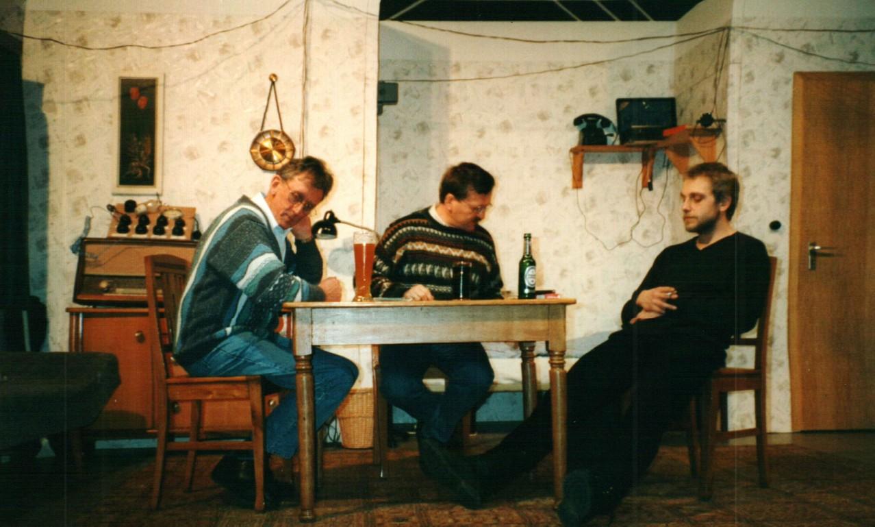 Bei der Probe: Heinrich Gilster, Dirk Reineke, Christoph Koloff
