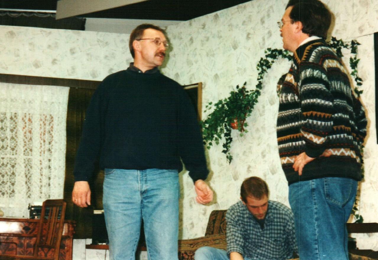 Bei den Proben: Fritz Bergholz, Christoph Koloff, Dirk Reineke