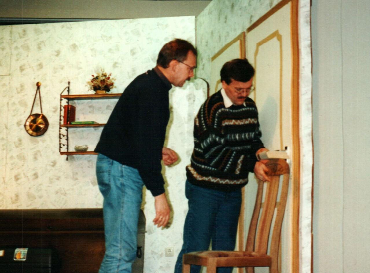Bei den Proben: Fritz Bergholz, Dirk Reineke