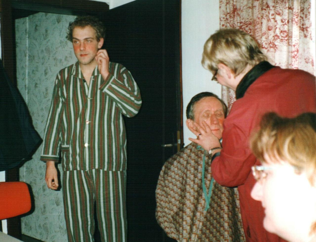 Hinter der Bühne: Christoph Koloff, Heinrich Gilster, Dorlis Finke, Birgit Engelke