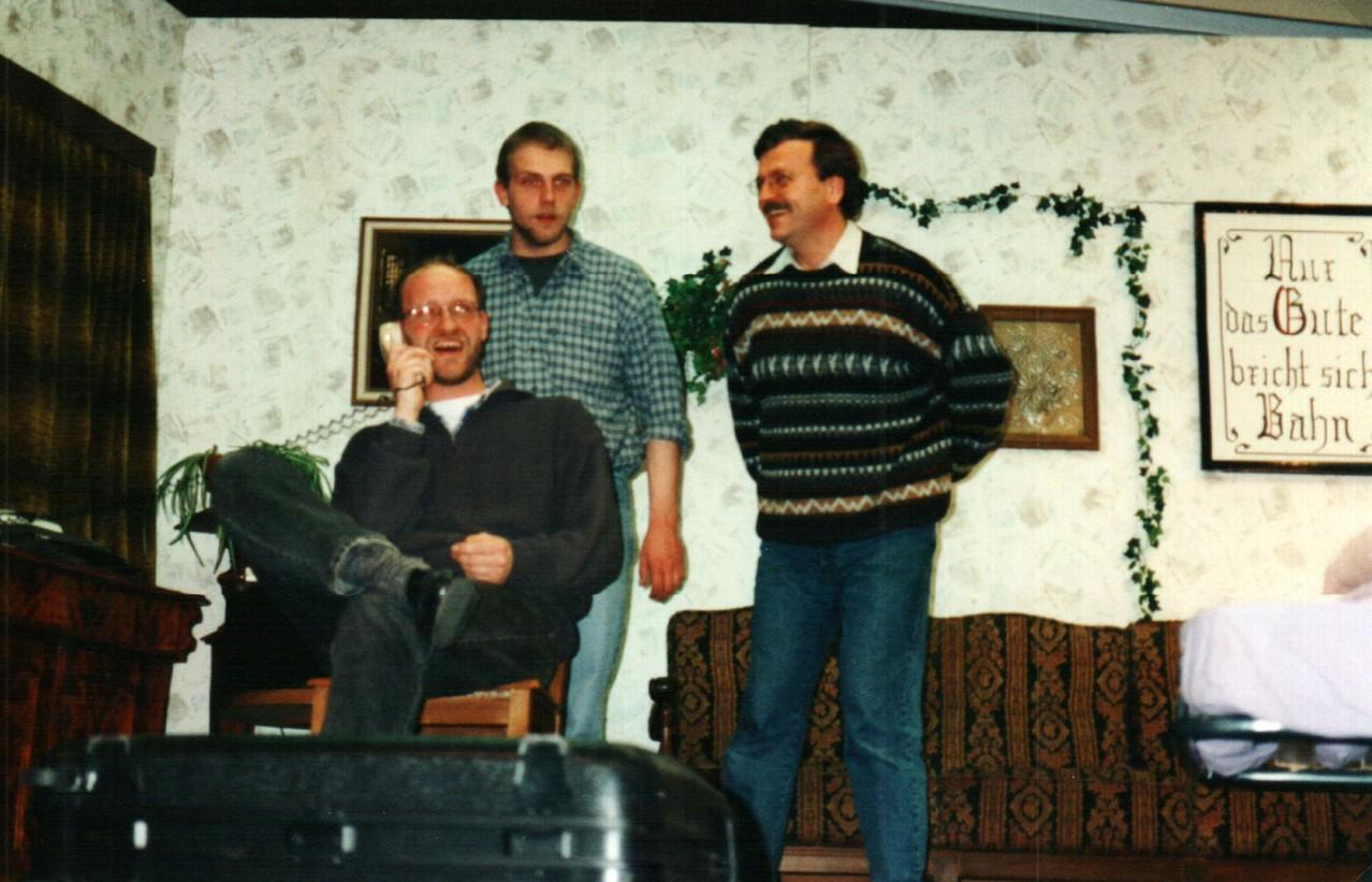 Bei den Proben: Gerald Egler, Christoph Koloff, Dirk Reineke