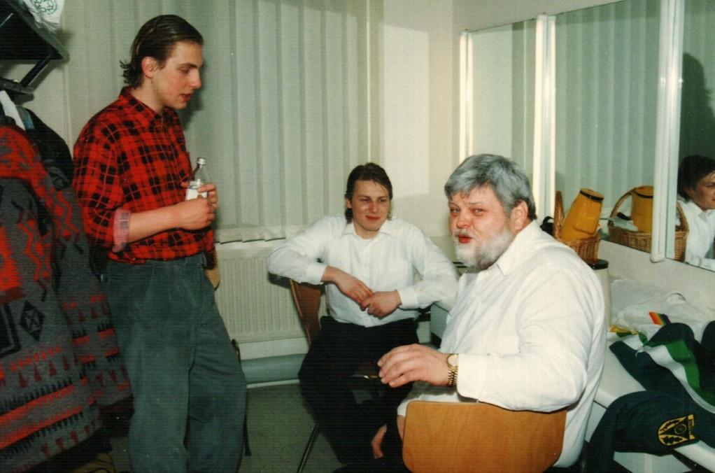 Hinter der Bühne: Christoph Koloff, Lars Hüttmann, Ehler Oltmann