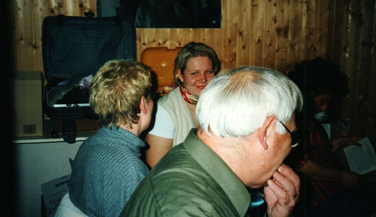 Hinter der Bühne: Heinz Schäfer, Dorlis Finke, Wiebke Wehrse