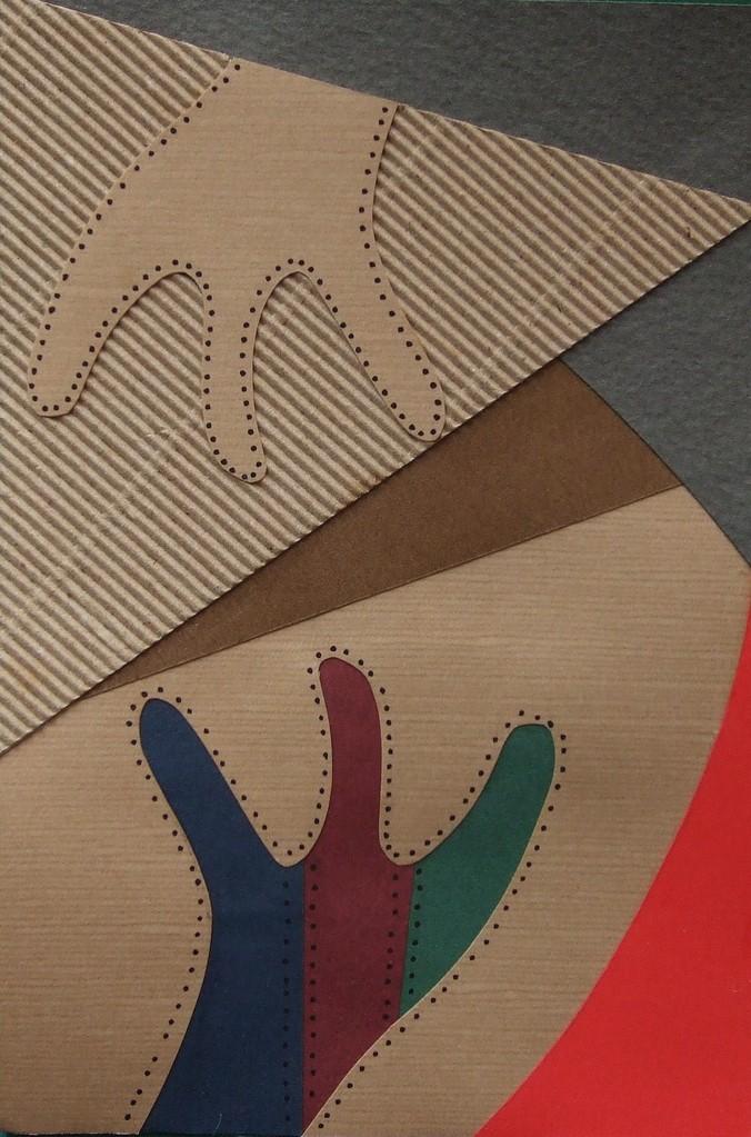 papier collé  205/1001  (150mmx100mm )   2012.12.20.  norio