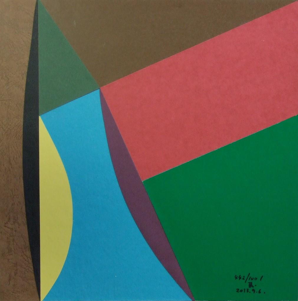 papier collé  442/1001  (250mmx250mm )   2013.09.06.  norio