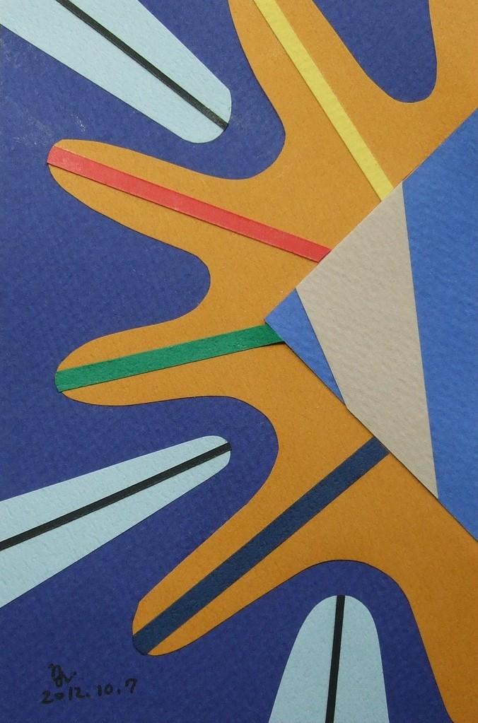 papier collé  030/1001  (150mmx100mm )   2012.10.07.  norio