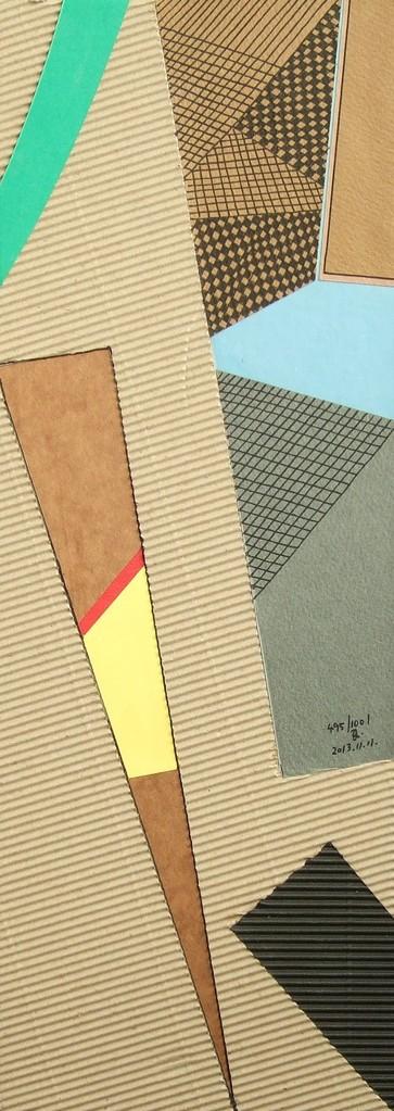 papier collé  495/1001  (402.5mmx148.5mm )   2013.11.11.  norio