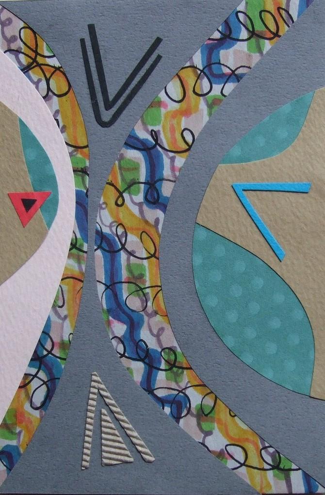 papier collé  039/1001  (150mmx100mm )   2012.10.09.  norio