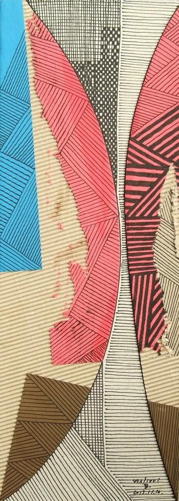 papier collé  493/1001  (402.5mmx148.5mm )   2013.11.10.  norio