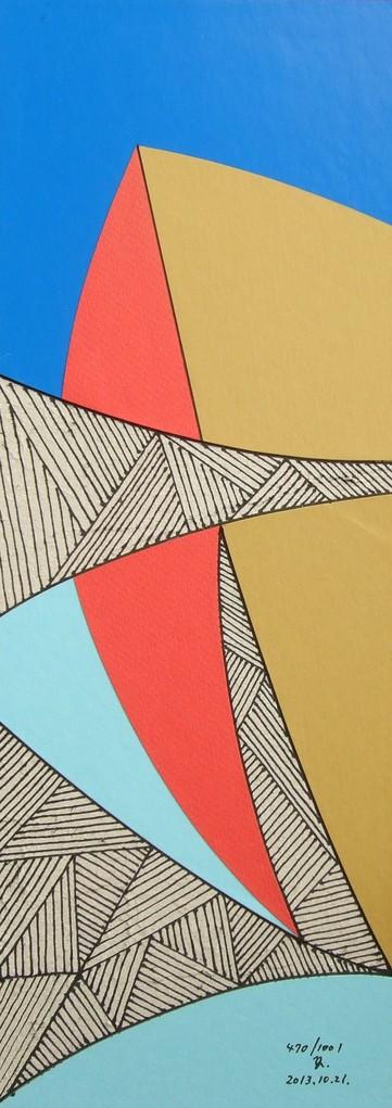 papier collé  470/1001  (402.5mmx148.5mm )   2013.10.21.  norio