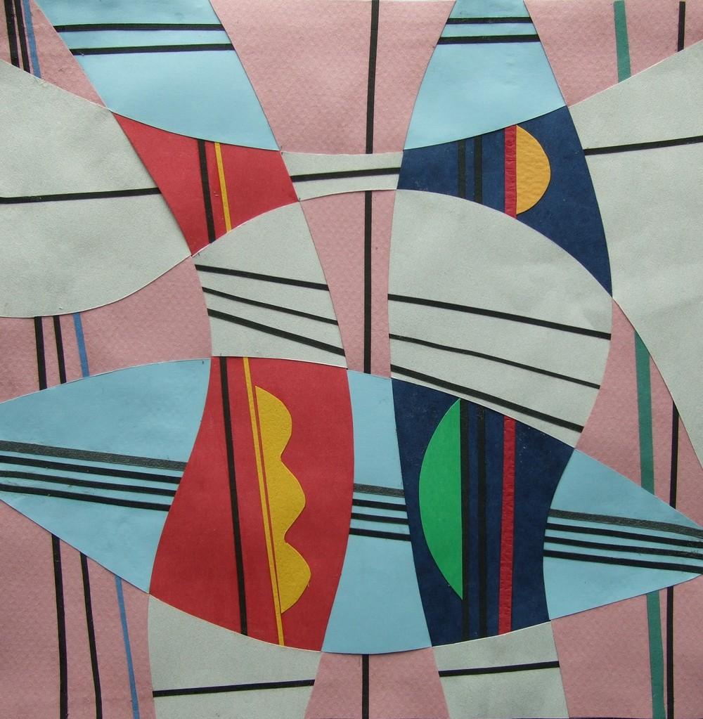 papier collé  302/1001  (210mmx210mm )   2013.03.02.  norio
