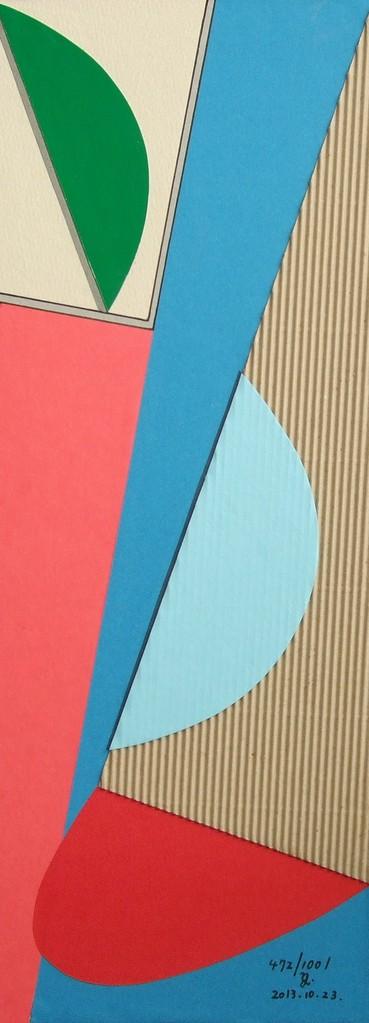 papier collé  472/1001  (402.5mmx148.5mm )   2013.10.23.  norio