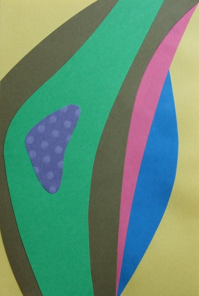papier collé  052/1001  (150mmx100mm )   2012.10.11.  norio