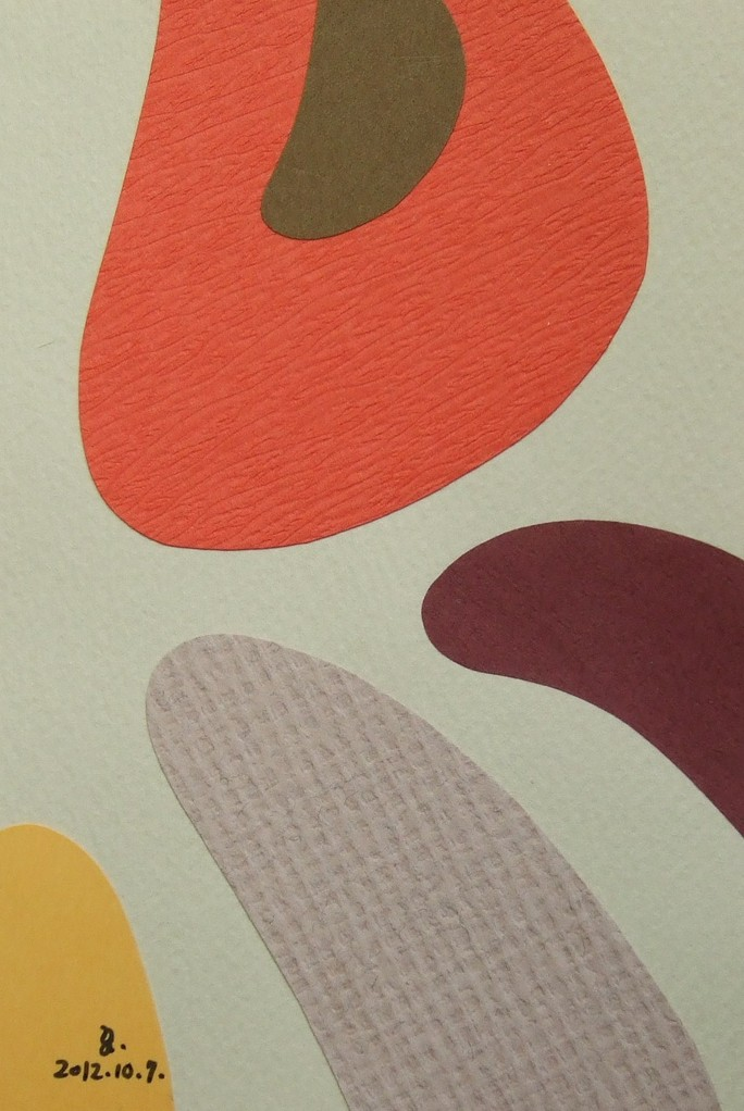 papier collé  032/1001  (150mmx100mm )   2012.10.07.  norio