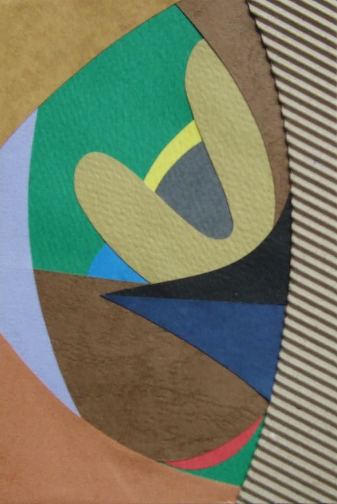 papier collé  181/1001  (150mmx100mm )   2012.11.21.  norio