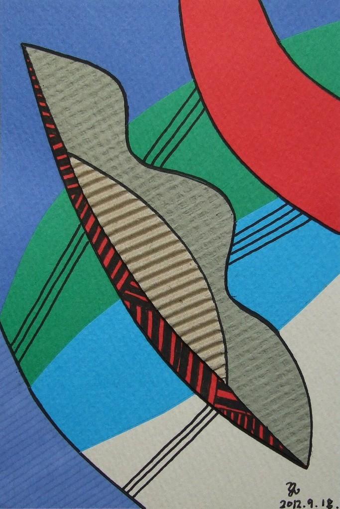 papier collé  013/1001  (150mmx100mm )   2012.09.18.  norio