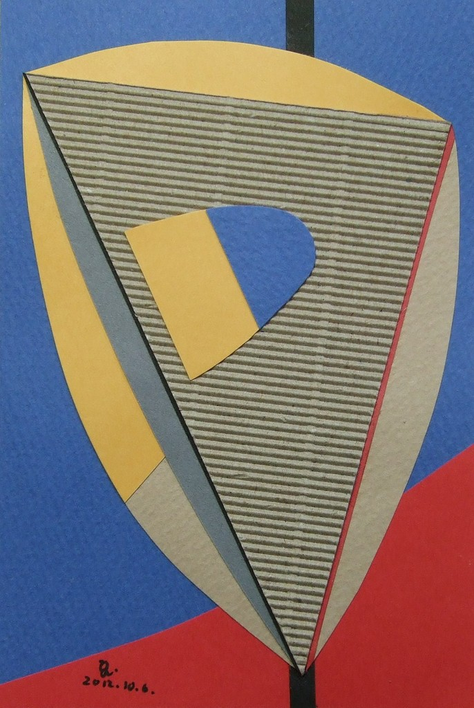 papier collé  027/1001  (150mmx100mm )   2012.10.06.  norio