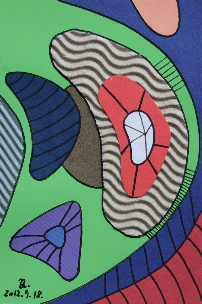 papier collé  015/1001  (150mmx100mm )   2012.09.18.  norio