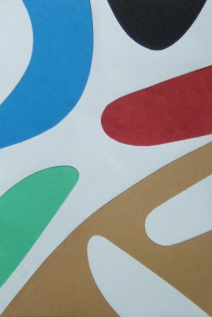 papier collé  128/1001  (150mmx100mm )   2012.10.30.  norio
