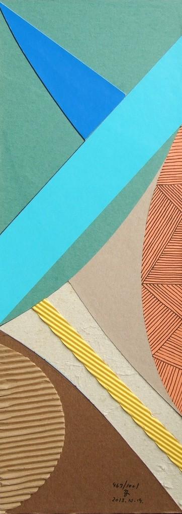 papier collé  467/1001  (402.5mmx148.5mm )   2013.10.19.  norio