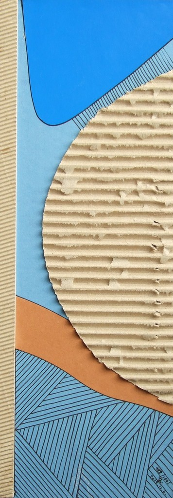 papier collé  488/1001  (402.5mmx148.5mm )   2013.11.06.  norio