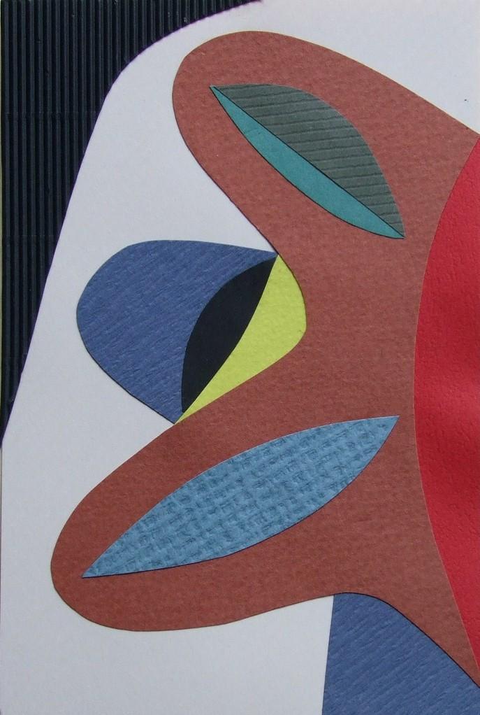 papier collé  047/1001  (150mmx100mm )   2012.10.10.  norio