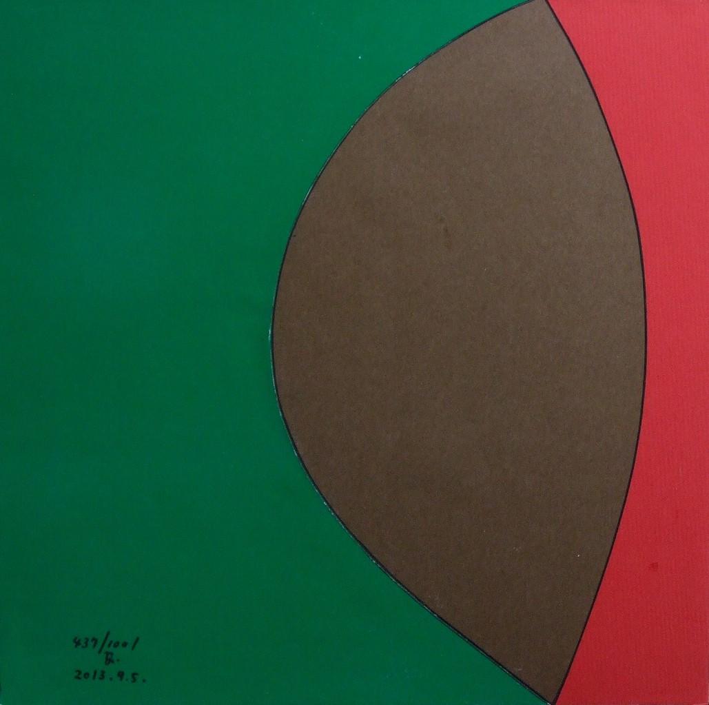 papier collé  437/1001  (250mmx250mm )   2013.09.05.  norio
