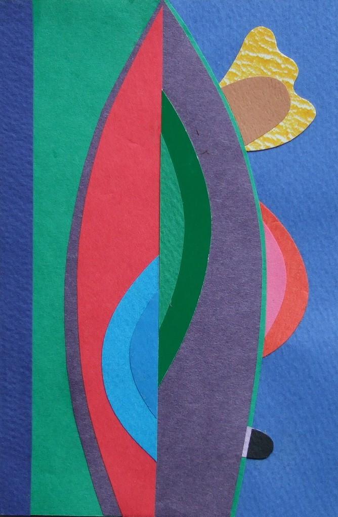 papier collé  090/1001  (150mmx100mm )   2012.10.22.  norio