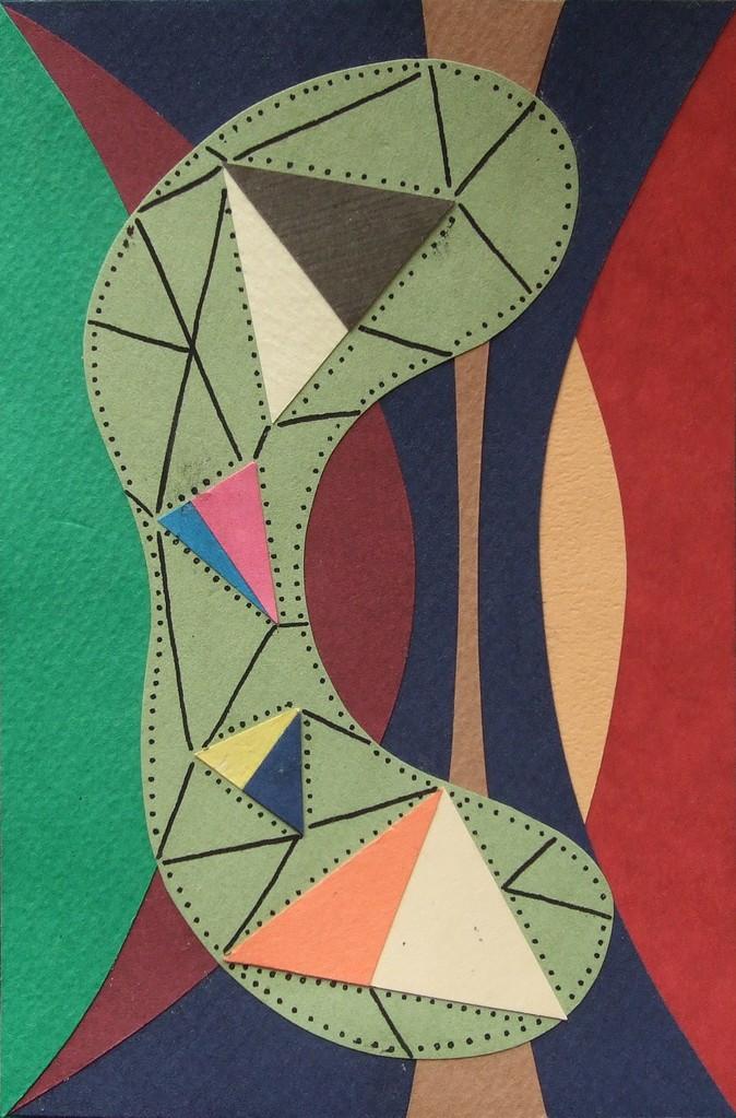 papier collé  206/1001  (150mmx100mm )   2012.12.20.  norio