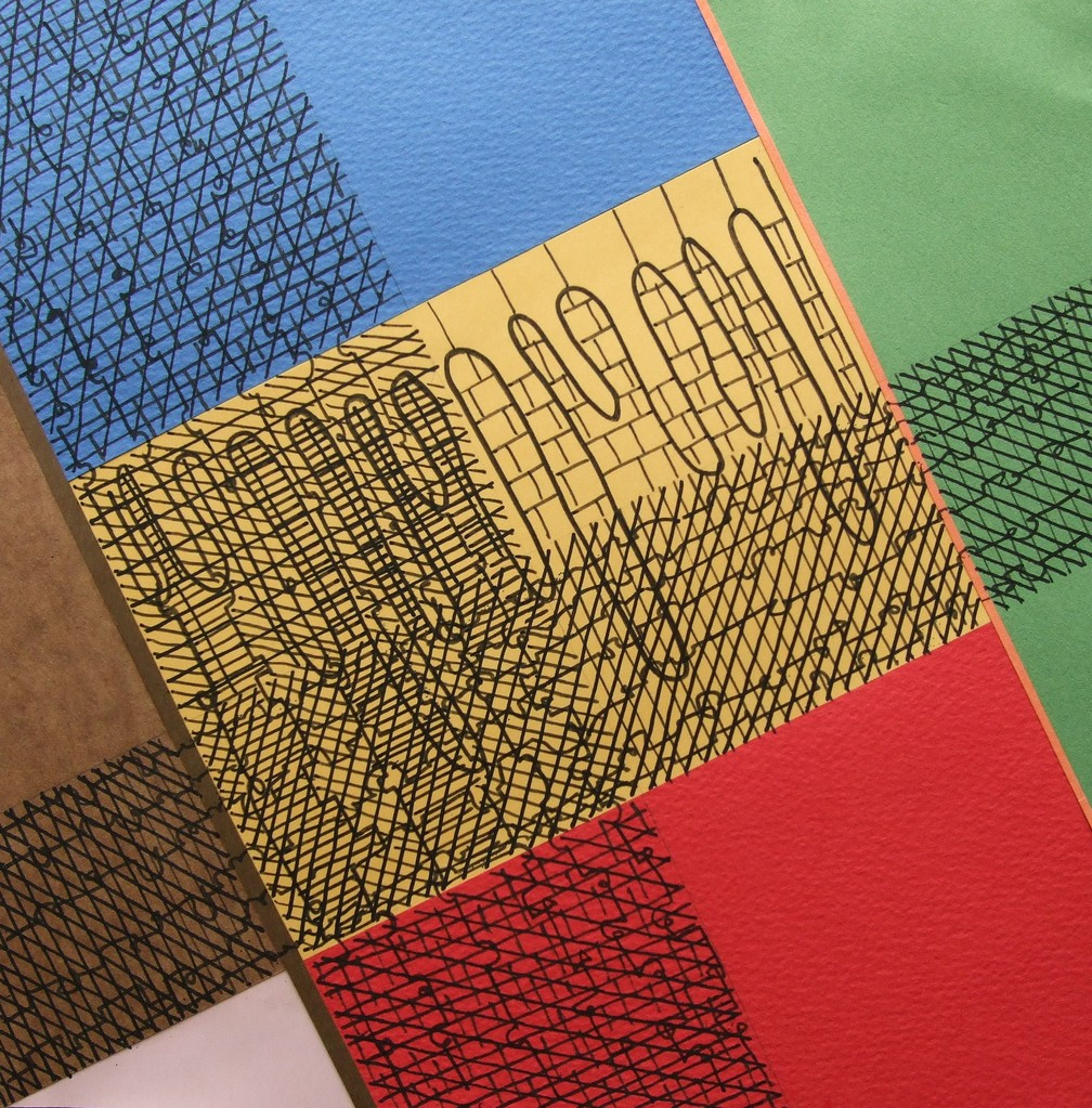 papier collé  329/1001  (210mmx210mm )   2013.03.23.  norio
